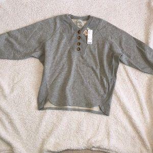 NWT Urban Outfitters Grey Henley Sweatshirt